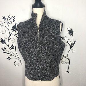 Ann Tjian Kenar vest gray wool